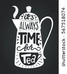 black and white poster with... | Shutterstock .eps vector #567518074