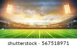 stadium lights at night and... | Shutterstock . vector #567518971