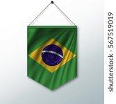 the national flag of brazil.... | Shutterstock .eps vector #567519019