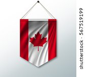the national flag of canada.... | Shutterstock .eps vector #567519199