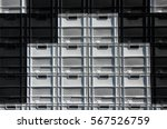 stack of empty white and black  ...   Shutterstock . vector #567526759