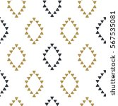 seamless hand drawn geometric... | Shutterstock .eps vector #567535081