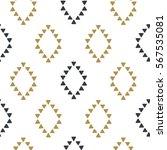 seamless hand drawn geometric... | Shutterstock .eps vector #567535081