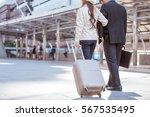 a businessman and businessman... | Shutterstock . vector #567535495