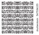 set of vintage border brushes... | Shutterstock .eps vector #567536155