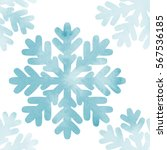 watercolor snowflakes seamless... | Shutterstock .eps vector #567536185