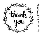 "handwritten phrase ""thank you...   Shutterstock .eps vector #567536734"