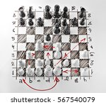 chess. white board with chess... | Shutterstock . vector #567540079