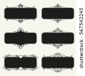 set of calligraphic frames... | Shutterstock .eps vector #567542245