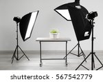 modern photography studio for... | Shutterstock . vector #567542779