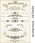 lots of design floral vector... | Shutterstock .eps vector #5675434