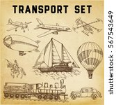 transportation set of different ... | Shutterstock .eps vector #567543649