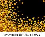 golden stars glitter scattered... | Shutterstock .eps vector #567543931
