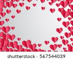valentines day card with... | Shutterstock .eps vector #567544039