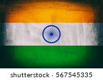 grunge flag of india | Shutterstock . vector #567545335
