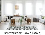 bright dining room area with... | Shutterstock . vector #567545575