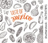 taste of mexico. national... | Shutterstock .eps vector #567547891
