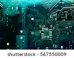 circuit board. electronic... | Shutterstock . vector #567550009