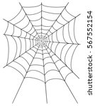 spider web stock illustration... | Shutterstock . vector #567552154