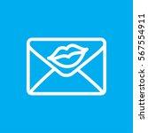 love letter icon illustration... | Shutterstock .eps vector #567554911