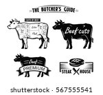 black cow symbol vector... | Shutterstock .eps vector #567555541