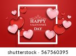 valentine's day background with ... | Shutterstock .eps vector #567560395