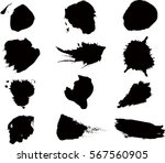 grunge shapes gunge elements.... | Shutterstock .eps vector #567560905