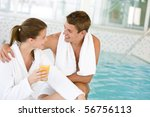 young happy couple relax at... | Shutterstock . vector #56756113