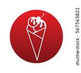ice cream icon isolated vector...