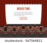 cinema auditorium flat icons... | Shutterstock .eps vector #567564811