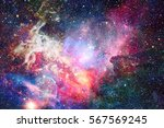 Nebula In Space. Elements Of...
