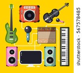 musical instruments and devices ... | Shutterstock .eps vector #567578485
