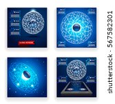 infographics network... | Shutterstock .eps vector #567582301