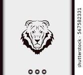 lion head icon. logo template... | Shutterstock .eps vector #567582331