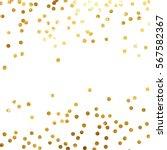 gold glitter background polka... | Shutterstock .eps vector #567582367