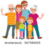 family portrait of three... | Shutterstock .eps vector #567584035