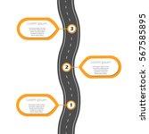 winding road infographic... | Shutterstock .eps vector #567585895