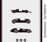 set of sport car icons. retro... | Shutterstock .eps vector #567586915