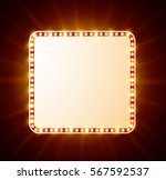 luxurious retro banner with... | Shutterstock . vector #567592537