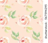 watercolor flower background... | Shutterstock . vector #567594295