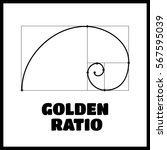 symbol of the golden ratio... | Shutterstock .eps vector #567595039