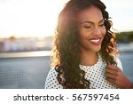 beautiful afro american woman... | Shutterstock . vector #567597454