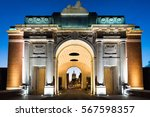 The Menin Gate Memorial to the Missing war memorial in Ypres, Belgium.