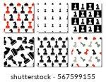 set of seamless vector patterns ... | Shutterstock .eps vector #567599155