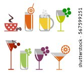 vector set of colorful... | Shutterstock .eps vector #567599251