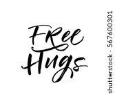 free hugs postcard. positive...   Shutterstock .eps vector #567600301