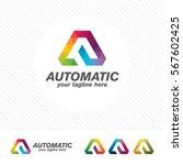 colorful letter a logo design... | Shutterstock .eps vector #567602425