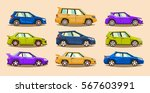 set of cars. collection vehicle.... | Shutterstock .eps vector #567603991