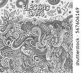 cartoon cute doodles hand drawn ... | Shutterstock .eps vector #567606169