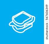 sandwich icon illustration... | Shutterstock .eps vector #567606349
